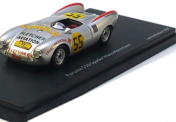 Porsche 550 Spyder #55 Carrera Panamericana 1954 - Hans Hermann - 1-43 Schuco Pro R Limited 1000 Pieces