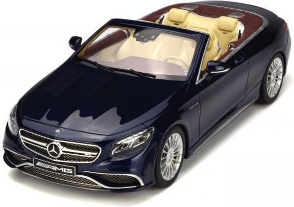 Mercedes-Benz AMG S65 Convertible Blauw 1-18 GT Spirit Limited 1000 Pieces