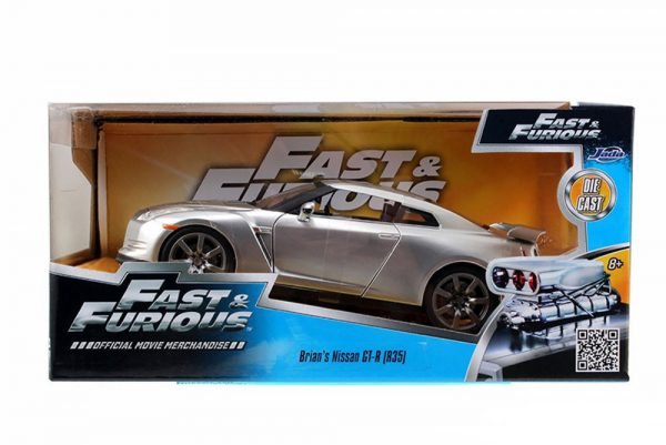 "Brian's Nissan GT-R ( R35 ) Fast and The Furious"" Zilver 1-24 Jada Toys"