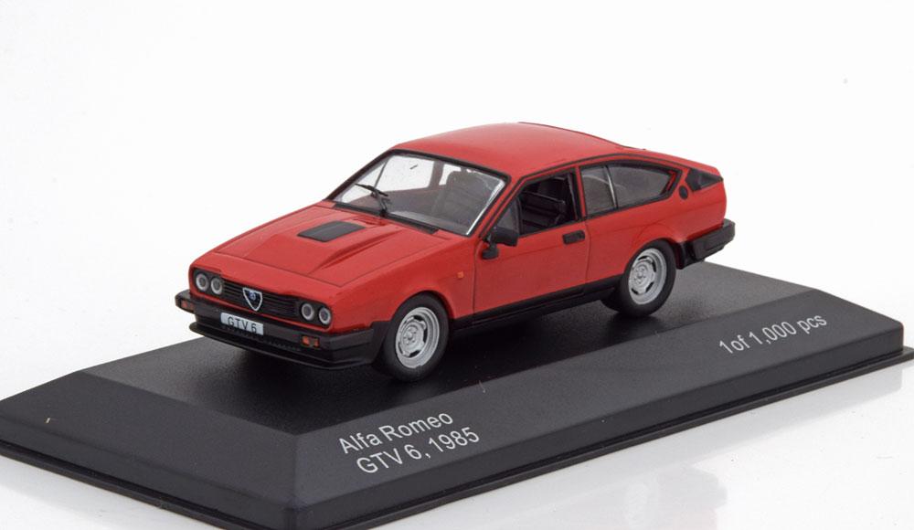 Alfa Romeo GTV 6 1985 Rood 1-43 Whitebox Limited 1000 Pieces