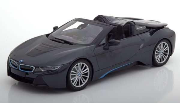 BMW i8 Roadster 2018 Grijs metallic 1:18 Minichmaps Limited 504 pcs.