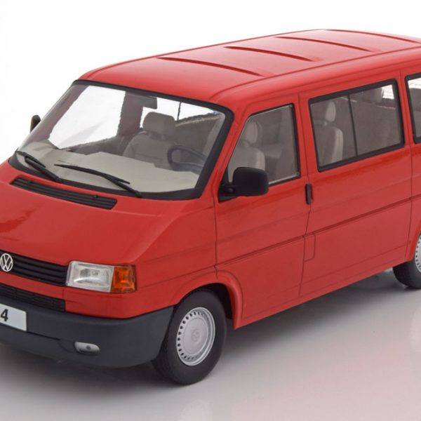 Volkswagen Bus T4 Caravelle 1992 Rood 1-18 KK Scale Limited 750 Pieces