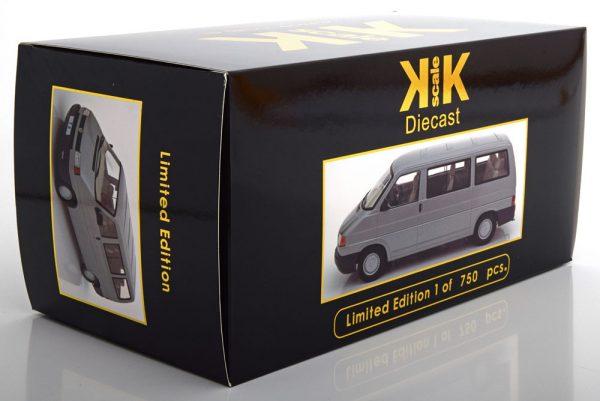 Volkswagen Bus T4 Caravelle 1992 Grijs Metallic 1-18 KK Scale Limited 750 Pieces