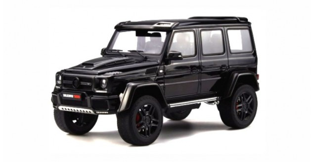 Mercedes-Benz G500 Wagon Brabus 4X4² 2016 Zwart 1-18 GT Spirit Resin Limited1500 Pieces