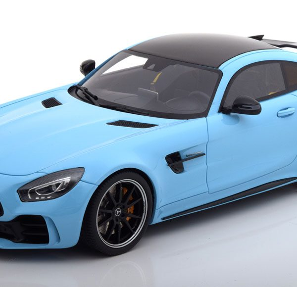 Mercedes-Benz AMG GT R 2018 Lichtblauw 1-18 GT Spirit Limited 999 Pieces