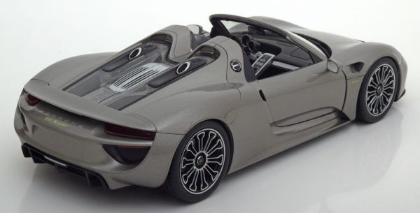 Porsche 918 Spyder ( Open) Grijs 1-18 Welly