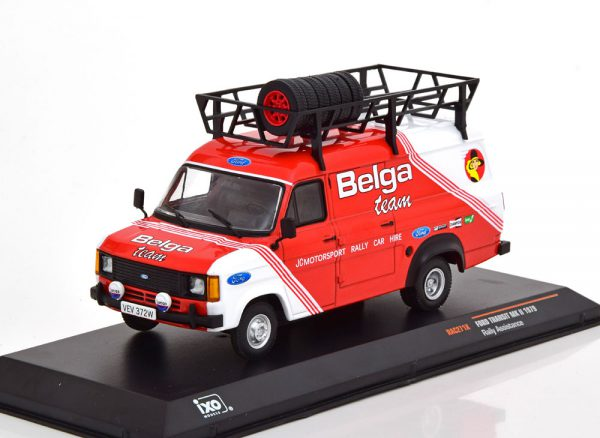 "Ford Transit MK2 Rally Assistance ""Belga Team "" 1979 Rood 1-43 Ixo Models"