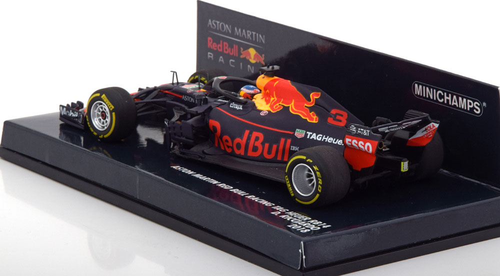 Aston Martin Red Bull Racing Tag Heuer RB14 2018 D.Ricciardo 1-43 Minichamps