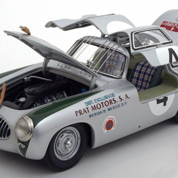 Mercedes-Benz 300SL W194 Sieger Carrera Panamericana 1952 Kling #4 1:18 Zilver CMC model
