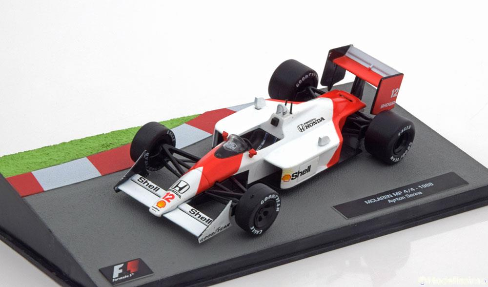 McLaren Honda MP 4/4 1988 Aryton Senna 1-43 Atlas Collection