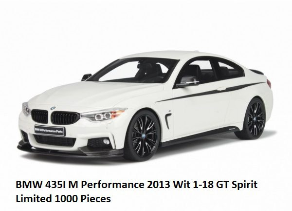 BMW 435i M Performance 2013 Wit 1:18 GT Spirit Limited 1000 Pieces
