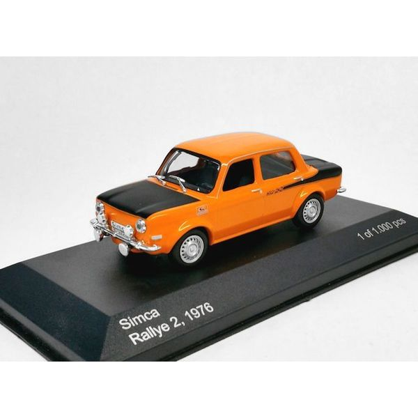 Simca 1000 Ralley 2 Oranje / Zwart 1-43 Whitebox Limited 1000 Pieces