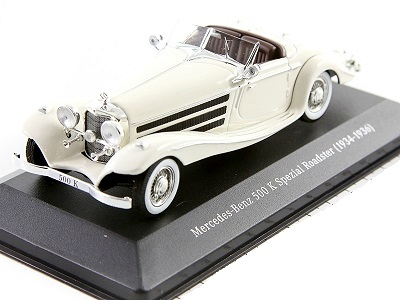 Mercedes-Benz 500 K Special Roadster, W29, 1936 Wit 1-43 Ixo Models
