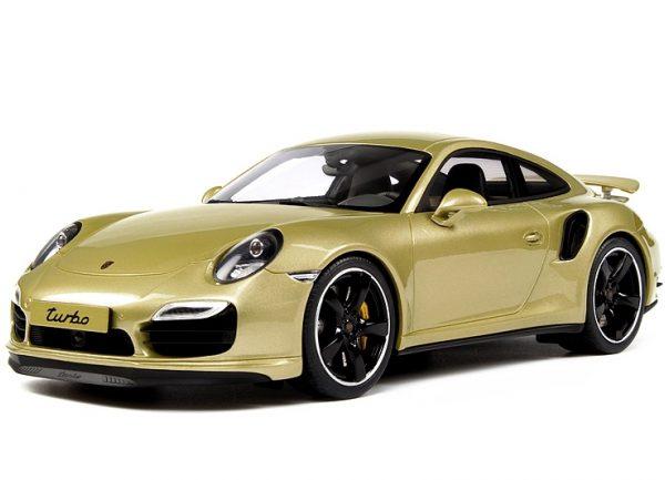 Porsche 911 Turbo Exclusive ( 991)Goud Metallic 1-18 GT Spirit Limited 991 Pieces