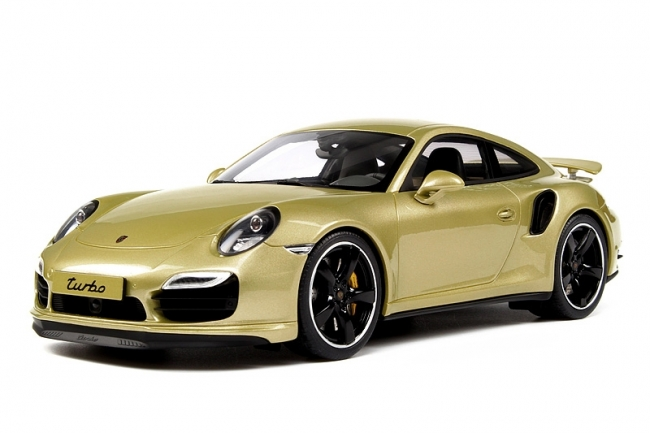 Porsche 911 Turbo Exclusive ( 991)Goud Metallic 1-18 GT Spirit Limited 991 Pieces