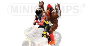 Figuur Valentino Rossi + Chicken GP 250 Barcelona 1998 1:12 Minichamps Limited 2016 pcs.