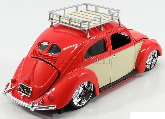 Volkswagen Beetle 1951 Oranje / Beige 1-18 Maisto Design Classics