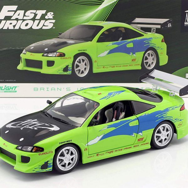 "Brian's Mitsubishi Eclipse 1995 ""Fast & Furious"" Groen 1-18 Greenlight Collectibles"