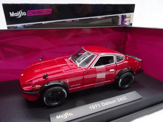Datsun 240Z 1971 Bordeaux Rood Metallic 1-18 Maisto
