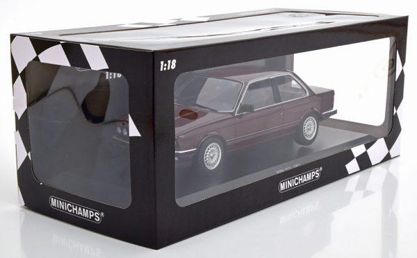 BMW 323i E30 1982 Donkerrood Metallic 1-18 Minichamps Limited 400 Pieces