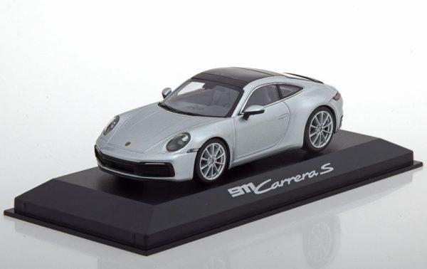 Porsche 911 (992) C2S Coupe 2019 Dolomit Zilver 1:43 Minichamps
