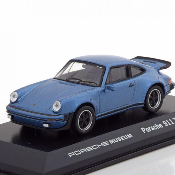 Porsche 911 Turbo 3.0 Coupe 1974 Blauw 1-43 Blauw Metallic Welly GT