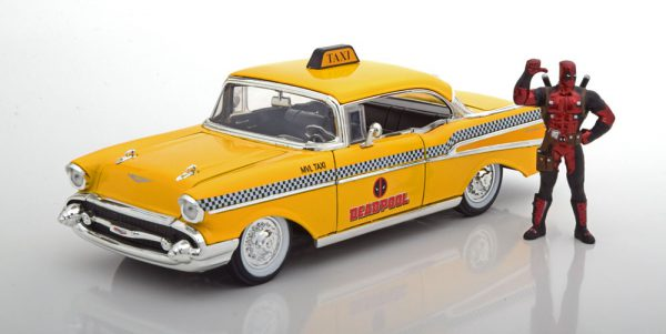 Chevrolet Bel Air 1957 Deadpool 1:24 Jadatoys