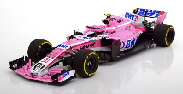 Sahara Force India VJM11 2018 E.Ocon 1-18 Minichamps