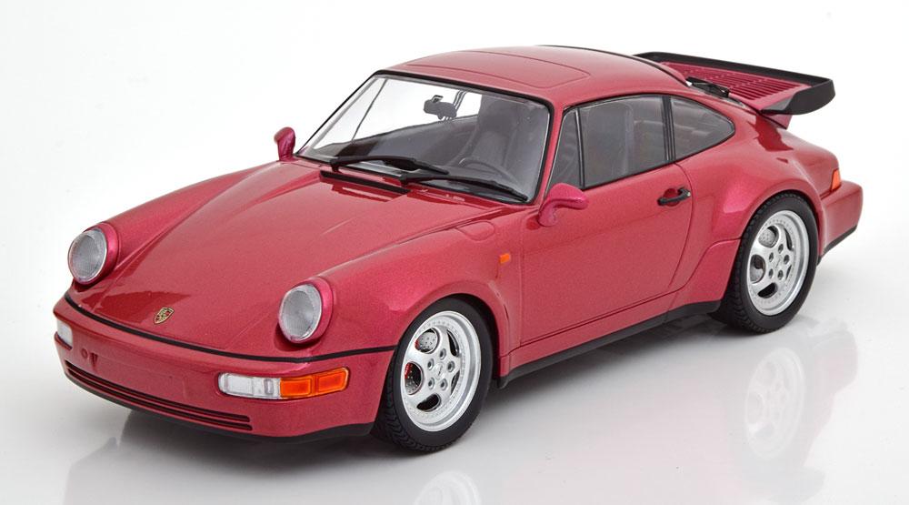 Porsche 911 (964) Turbo 1990 Bordeaux Rood Metallic 1-18 Minichamps Limited 504 Pieces