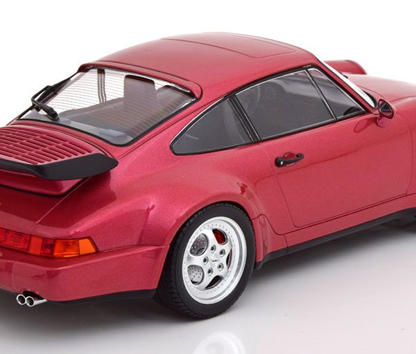 Porsche 911 (964) Turbo 1990 Bordeaux Rood Metallic 1-18 Minichamps Limited 504 Pieces