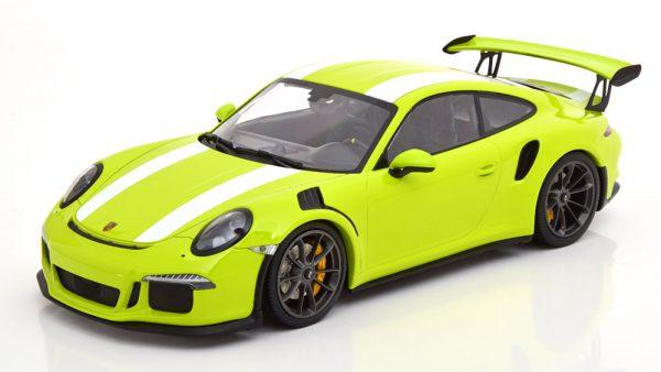 Porsche 911 (991) GT3 RS 2015 Groen / Wit 1-18 Minichamps Limited 222 Pieces