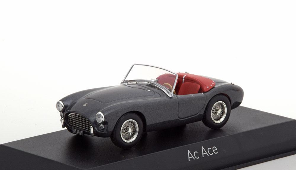 AC Aceca Roadster 1957 Grijs Metallic 1-43 Norev