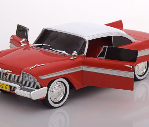 "Plymouth Fury ""Evil Version Christine"" 1958 1:24 Rood/Wit Greenlight"