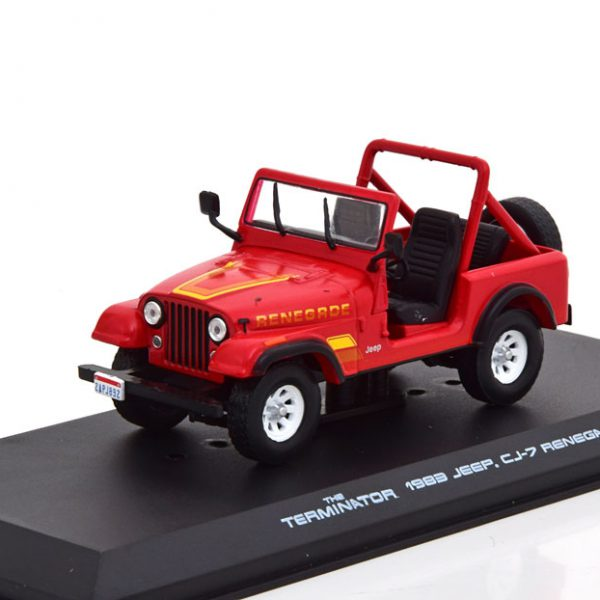 """Jeep CJ-7 Renegade 1983 """"The Terminator """" 1-43 Rood Greenlight Collectibles"""