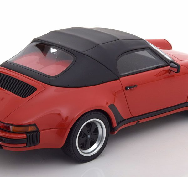 Porsche 911 3.2 Speedster 1989 met Softtop Rood 1-18 GT Spirit Limited 999 Pieces
