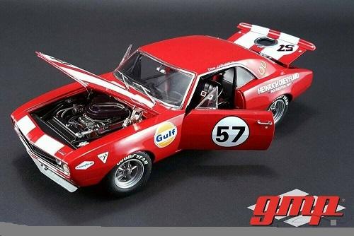 Chevrolet Camaro Z/28 Heinrich Chevy-Land #57 1967 Red, Model Car 1:18 / Gmp