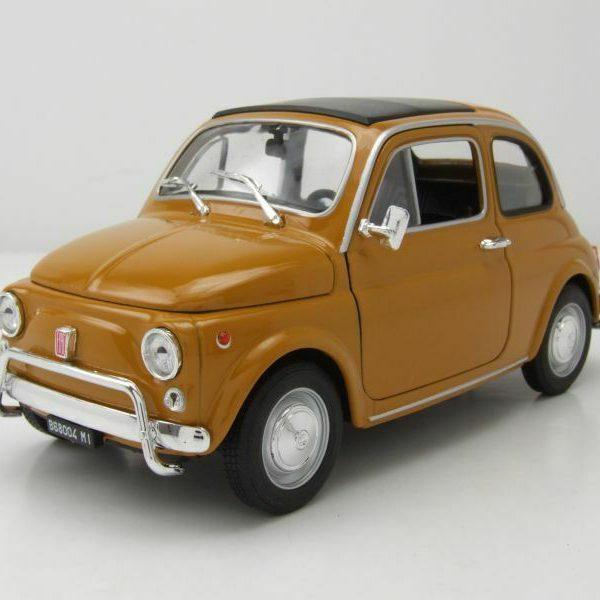 Fiat Nuova 500 Oranje Welly 1-18