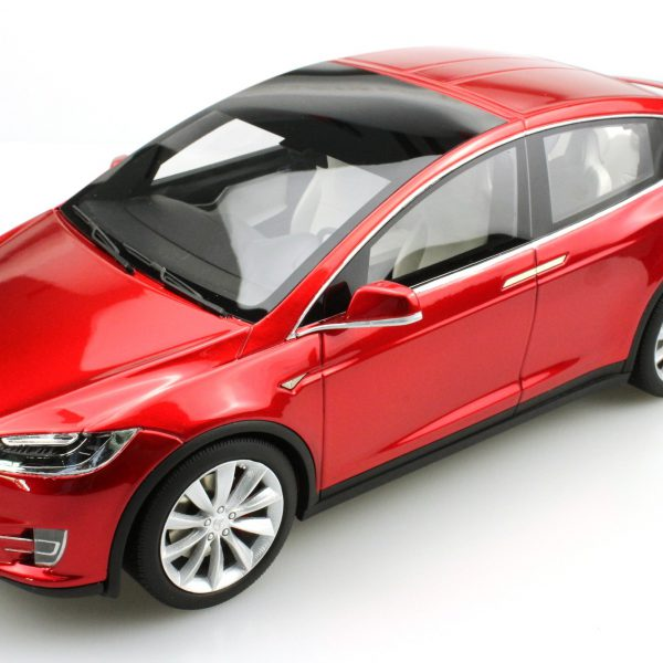 Tesla Model X 2016 Rood Metallic 1-18 LS Collectibles Limited 250 Pieces -