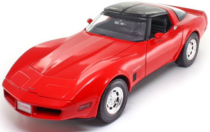 Chevrolet Corvette Coupé 1982 Rood 1:18 Welly