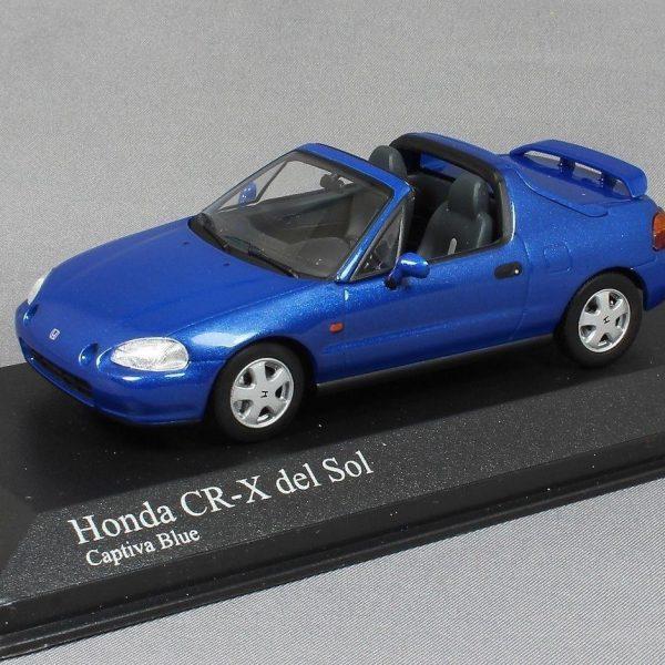 Honda CR-X Del Sol 1993 Blauw Metallic 1-43 Minichamps Limited 1008 Pieces