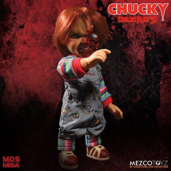"Child'S Play 3 Talking Chucky 15"" ""Good Guy Pizza Face"" Mega Doll Sound Mezco Toys ( New )"
