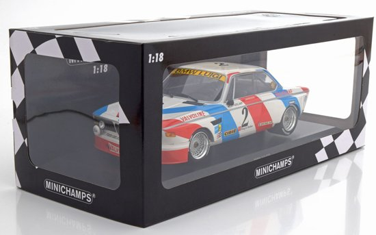 BMW 3,0 CSL Sieger 24h Spa 1975 Luigi Racing De Fierlant/Xhenceval 1-18 Minichamps Limited 360 Pieces