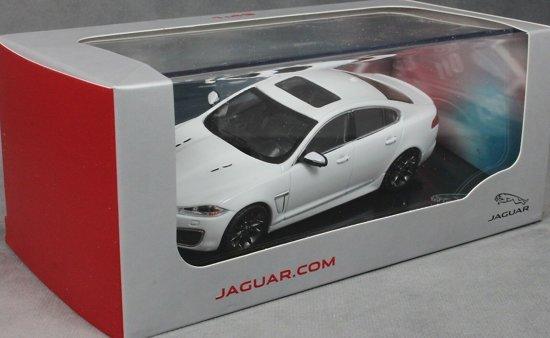 Jaguar XFR 2010 Polaris White 1:43 Ixo Models
