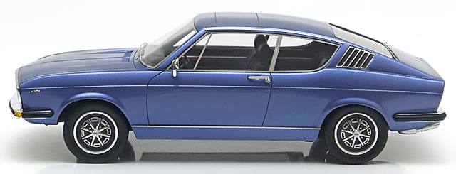 Audi 100 Coupe S 1970 Blauw Metallic 1-18 KK Scale Limited 500 Pieces