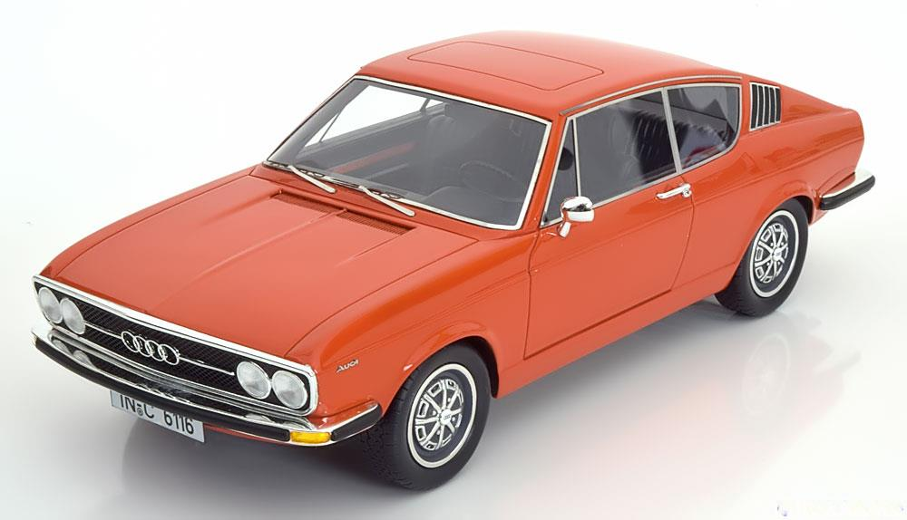 Audi 100 Coupe S 1970 Oranje 1-18 KK Scale Limited 400 Pieces