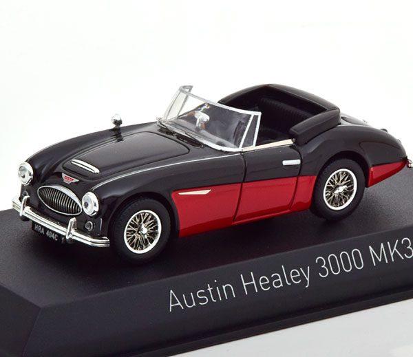 Austin Healey 3000 MK III 1964 Zwart / Rood 1-43 Norev