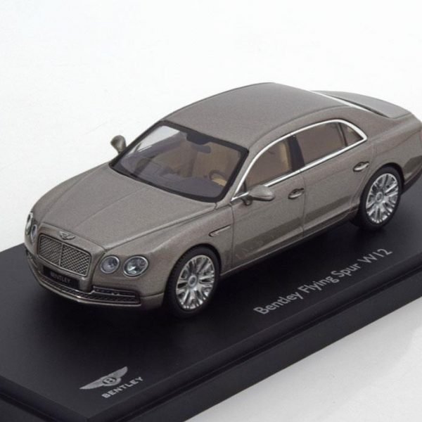 Bentley Flying Spur W12 Pearl zilver 1-43 Kyosho