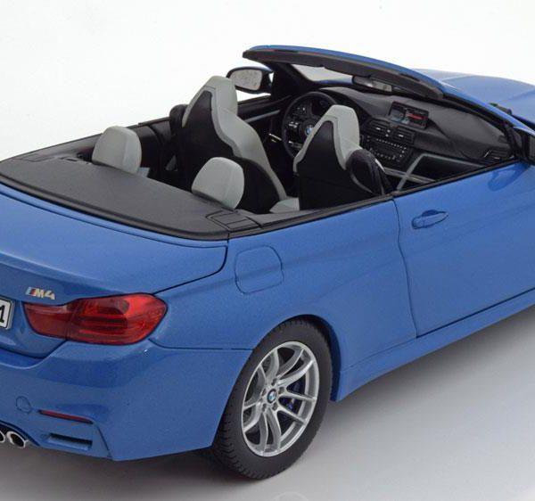 BMW M4 F82 Cabriolet 2015 Blauw 1-18 Paragon Models