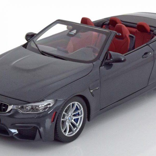 BMW M4 F83 2014 Cabriolet Grijs Metallic 1-18 Paragon Models
