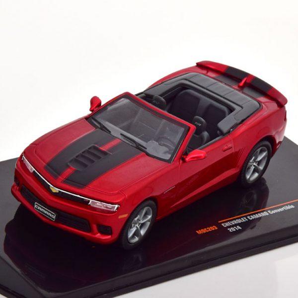 Chevrolet Camaro Convertible 2014 Donkerrood Metallic 1-43 Ixo Models